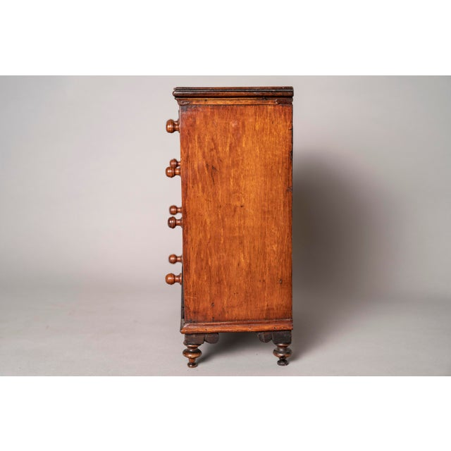 Traditional C 1820 English Model of Cherry Wood Chest of Drawers Apprentice Piece and Salesman Sample For Sale - Image 3 of 8