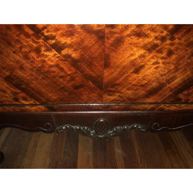 Antique 1930's Burled Walnut Dresser Chest Bureau With Mounted Glove Box For Sale - Image 10 of 13