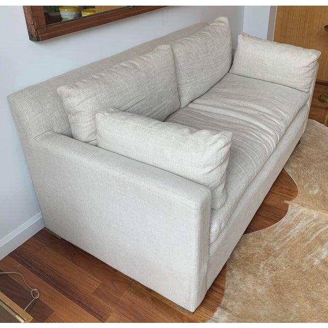 Belgian Restoration Hardware Belgian Track Arm Sofa For Sale - Image 3 of 7