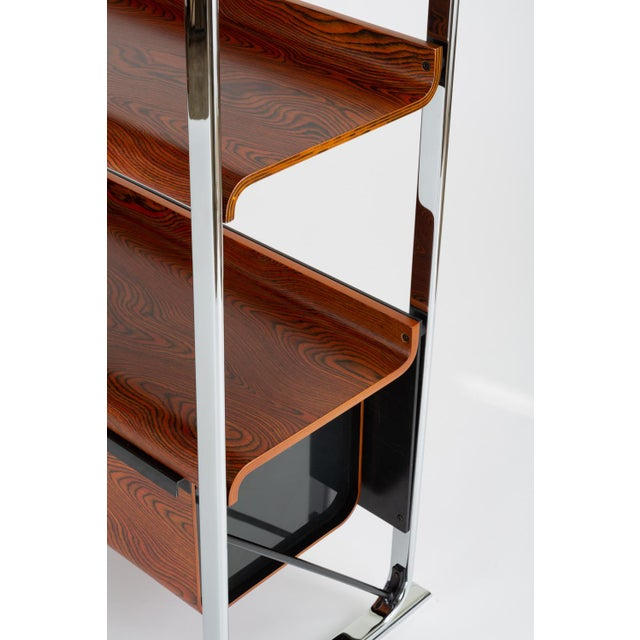 Zebrawood and Chrome Bookshelf by Peter Protzmann for Herman Miller For Sale - Image 10 of 13