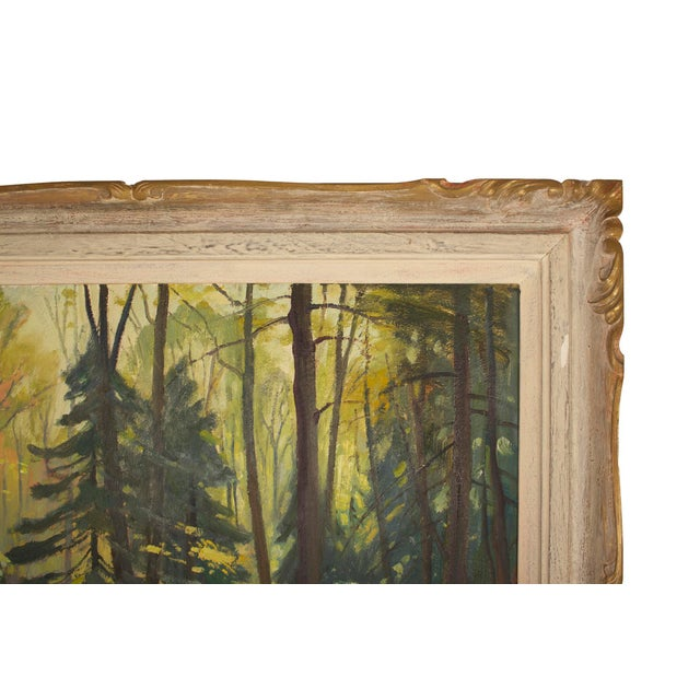 Original Frank Shirley Panabaker Painting Oil on Masonite For Sale - Image 5 of 11