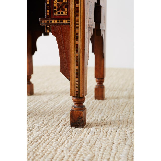 Syrian Armchair With Inlay Moorish Designs For Sale - Image 10 of 13