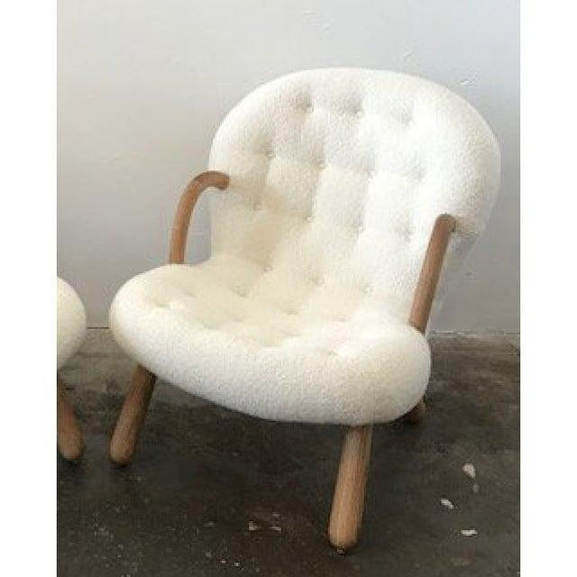 Mid-Century Modern Philip Arctander Attributed Clam Armchair For Sale - Image 3 of 5