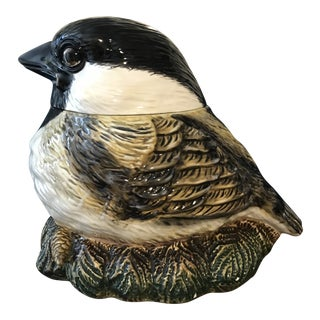 "Vintage ""Fat Chickadee"" China Cookie Jar"