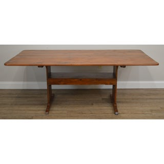 Farmhouse Pine Trestle Base Tilt Top Dining Table Preview