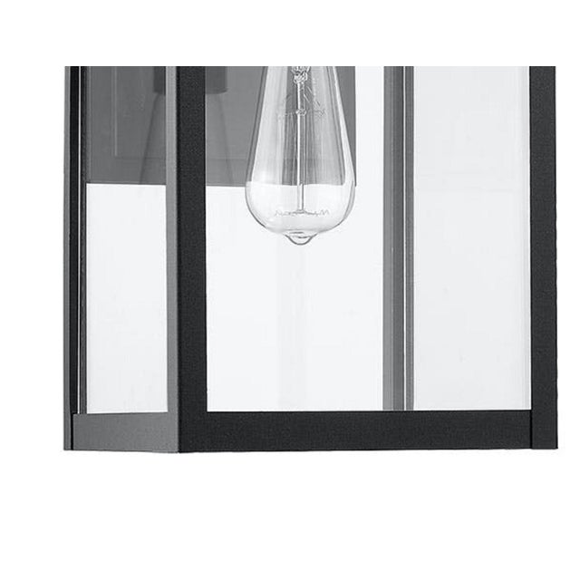 Contemporary Modern Aluminum 1 Light Black Outdoor Wall Light For Sale - Image 3 of 5