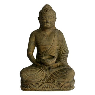 Buddha Sculpture With Candle Holder For Sale
