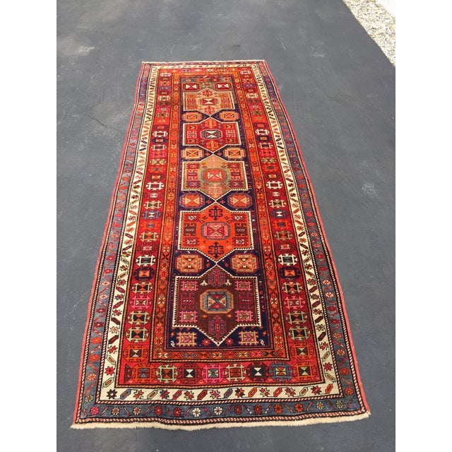 Vintage Turkish Tribal Hand Knotted Runner - 3′10″ × 10′3″ For Sale - Image 11 of 11