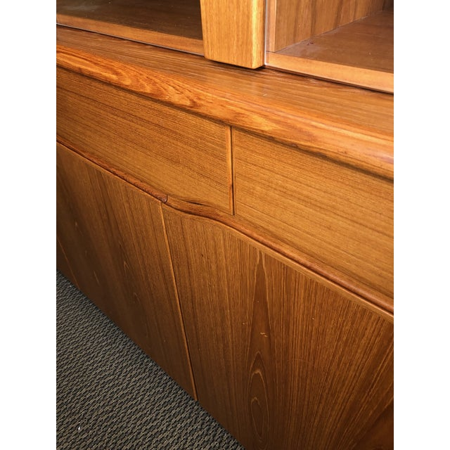 Wood Danish Modern Teak China or Display Cabinet 1980s For Sale - Image 7 of 9