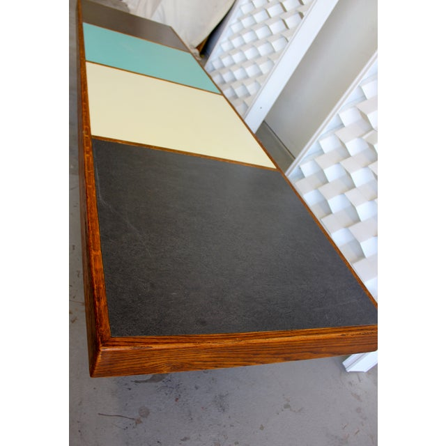 Harvey Probber Colorblock Coffee Table Bench - Image 5 of 10