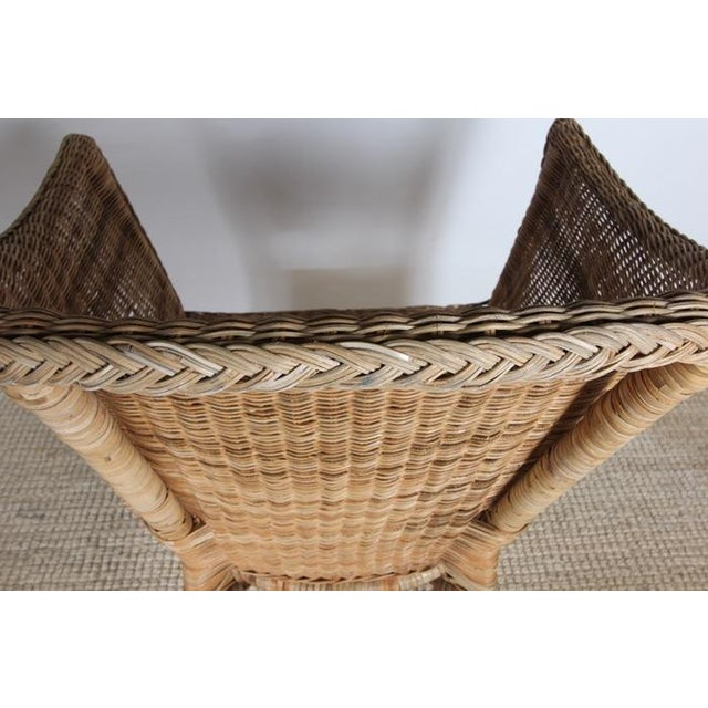 Wicker Patio Chairs with Cushions - A Pair - Image 8 of 8