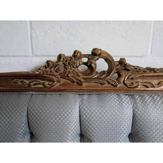 Beech French Style Handmade Bed For Sale - Image 7 of 10