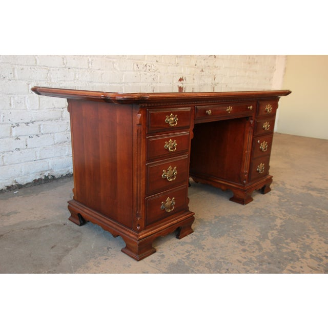 Chippendale Lexington Furniture Cherry Wood Executive Desk For Image 3 Of 11