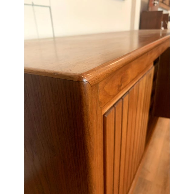 1960s Teak Norwegian Credenza With Key For Sale - Image 10 of 13