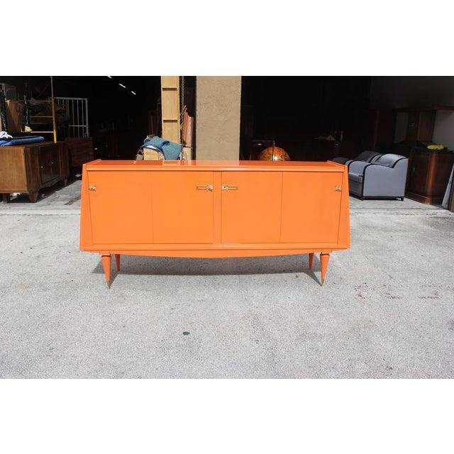 Art Deco Modern Orange Sideboard - Image 4 of 10