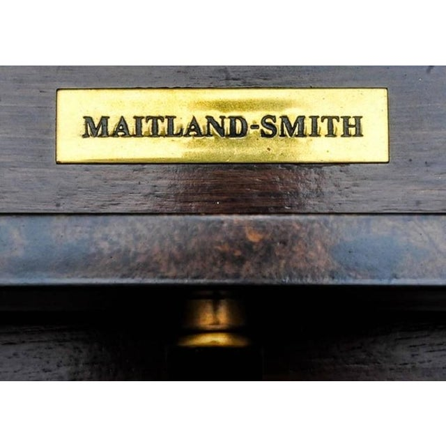 Mid-Century Modern 1980's Vintage Maitland-Smith Console Table For Sale - Image 3 of 3