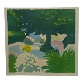"""Limited Edition French """"Le Jardin Me Diterranien"""" Signed Print by Muhl"""