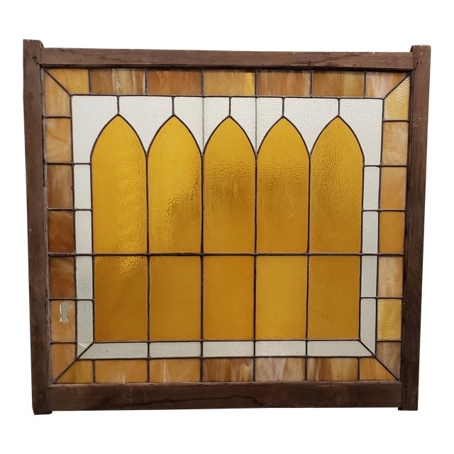 Large Late 19th Century Stained Glass Window Panel C.1880 For Sale