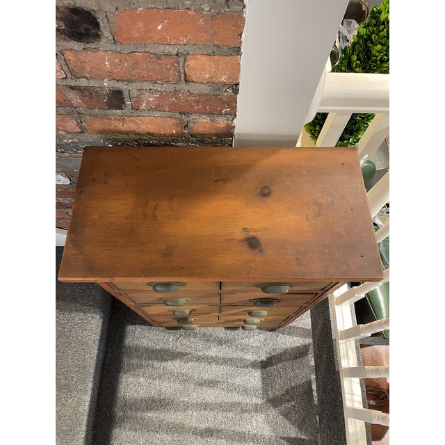 Traditional Antique Knotty Pine Apothecary Chest For Sale - Image 3 of 5