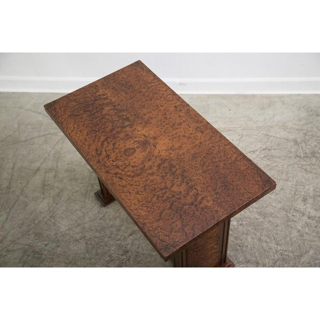 Art Deco French Bird's Eye Maple Console Side Table circa 1930 For Sale In Houston - Image 6 of 6