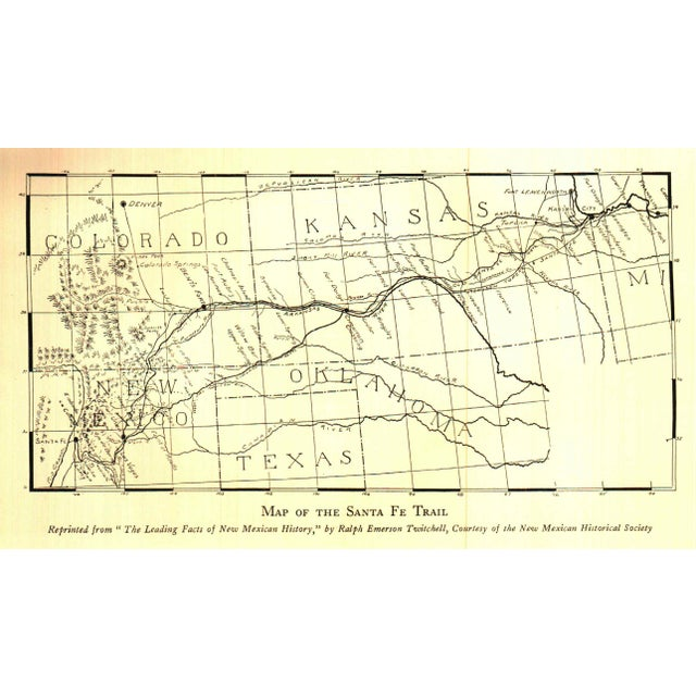 """Traditional 1931 """"The Santa Fe Trail"""" Collectible Book For Sale - Image 3 of 6"""