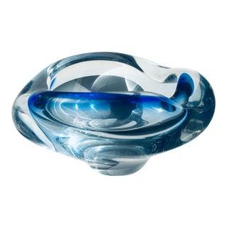 "1960s Murano ""Sommerso"" Italian Art Glass Bowl For Sale"