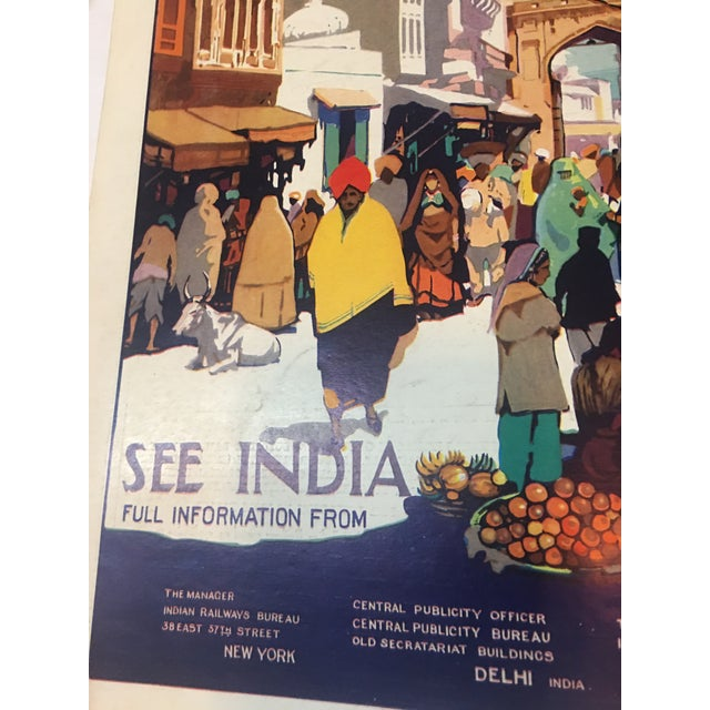 1935 'See India' Lahore Scene Ad For Sale - Image 9 of 11