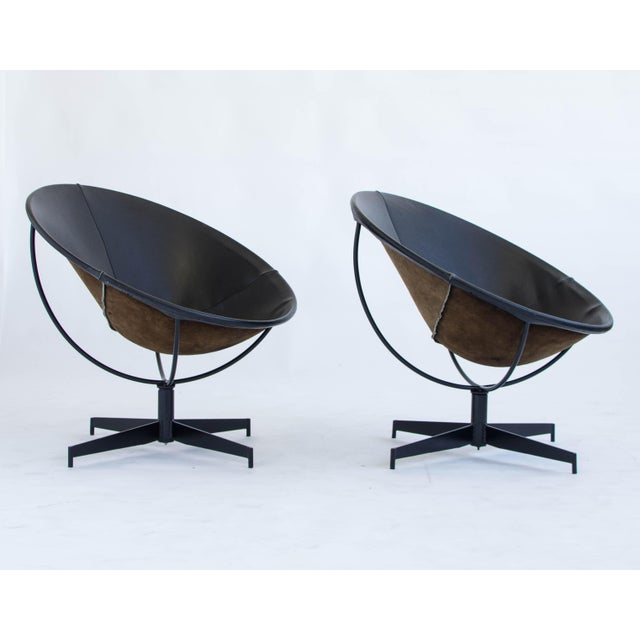 Leather Bucket Chairs by William Katavolos - Pair - Image 3 of 9