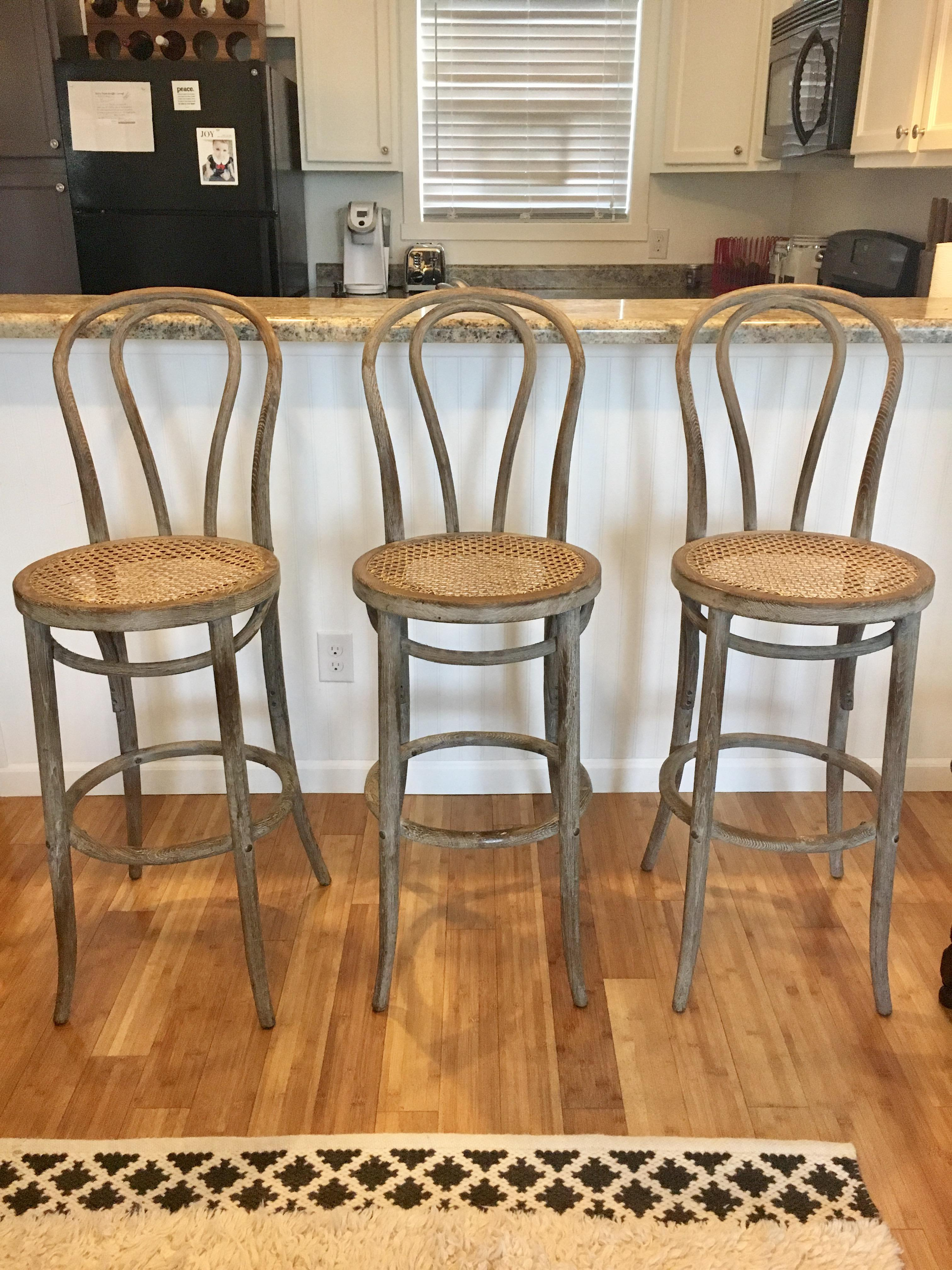 Favorite Restoration Hardware French Cafe Barstools - Set of 3 | Chairish HF81