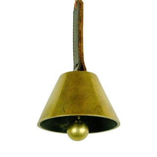 Austrian Modernist Brass Table Bell by Carl Auböck