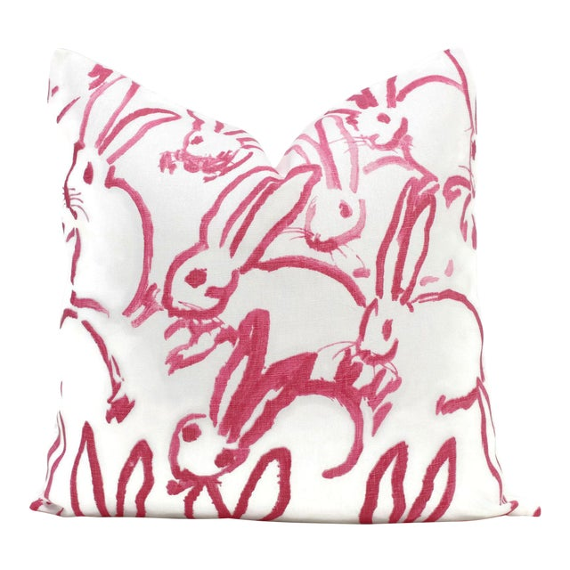 Lee Jofa Groundworks Hutch Pink Bunny Pillow - Image 6 of 7