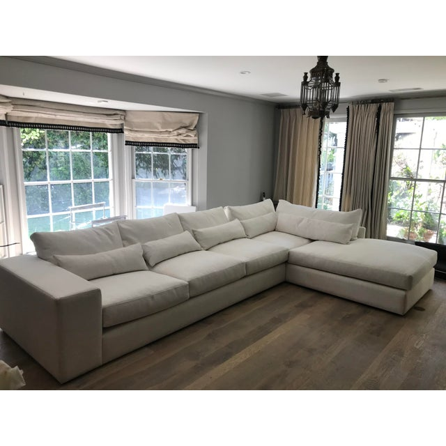 White L-Shaped Sectional Sofa For Sale - Image 13 of 13