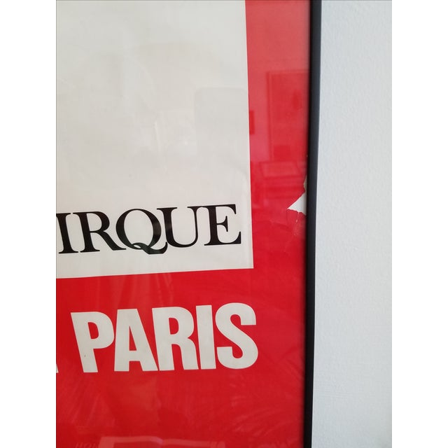 Vintage Paris Circus School Framed Poster For Sale - Image 5 of 5