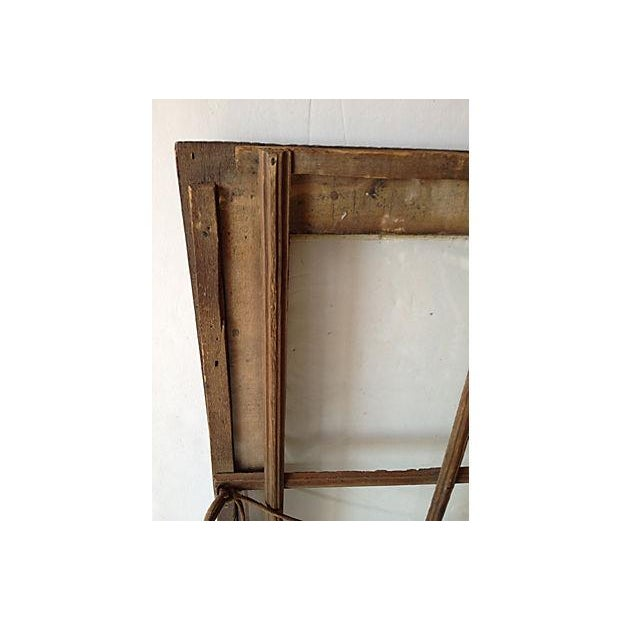Antique Tramp Art Window Pane Frame For Sale - Image 4 of 5