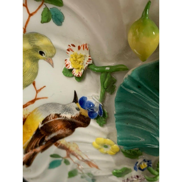 Antique 1750 Meissen Porcelain Tureen with Birds, Insects, Flowers and Boy Finial For Sale - Image 12 of 13