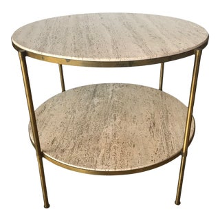 1960s Travertine Side Table For Sale