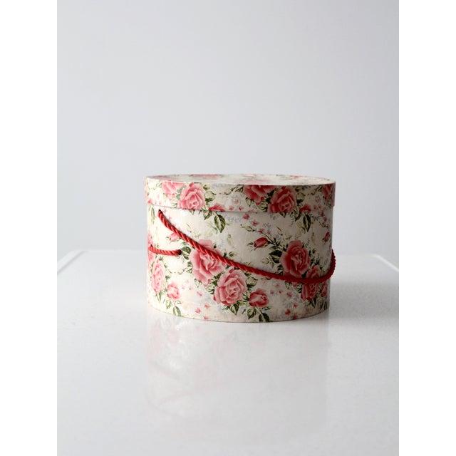 Vintage Floral Hat Box - Image 2 of 8