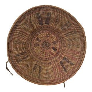 Antique Woven Reed Basket, South America For Sale