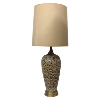 Huge Mocha Fat Lava Table Lamp