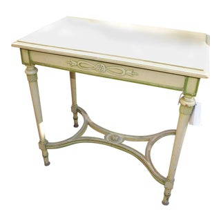 1880 English Pale Yellow Table For Sale