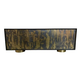 Bridges Over Time Originals Brass and Iron Sculpted Credenza For Sale