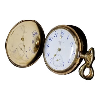 Antique Elgin 14kt Solid Gold and Diamond Pocket Watch