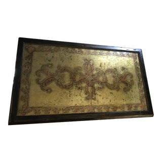 French Eglomise Framed Panel For Sale