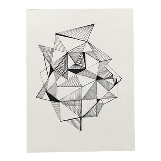 "Original Drawing ""Faceted Forms I"" by Christy Almond For Sale"