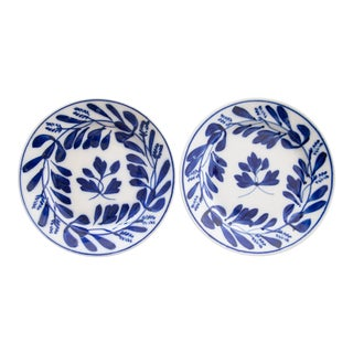 Antique Dutch Delft Maastricht Plates - a Pair For Sale