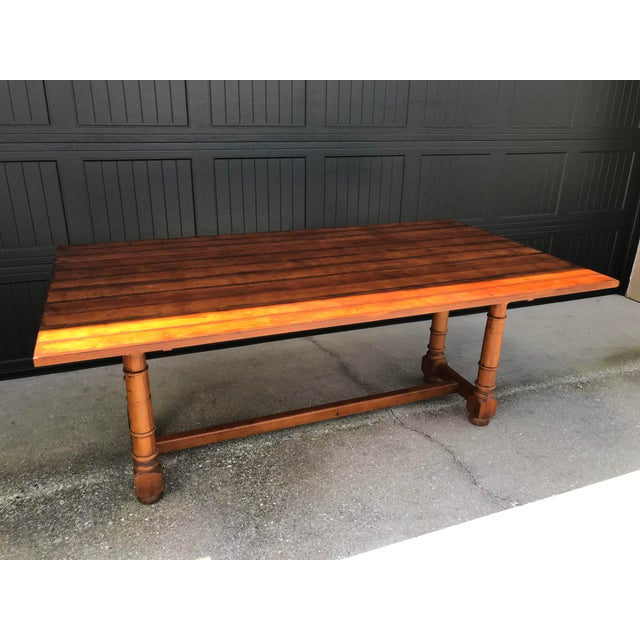 Farmhouse Century French Country Drop Leaf Dining Console Table For Sale - Image 3 of 13