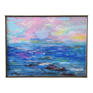 Original Santa Barbara Seascape by Juan Pepe Guzman For Sale