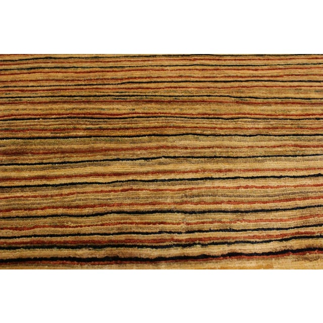 Textile Boho Chic Gabbeh Peshawar Jovita Tan/Red Hand-Knotted Wool Rug -3'0 X 4'9 For Sale - Image 7 of 8