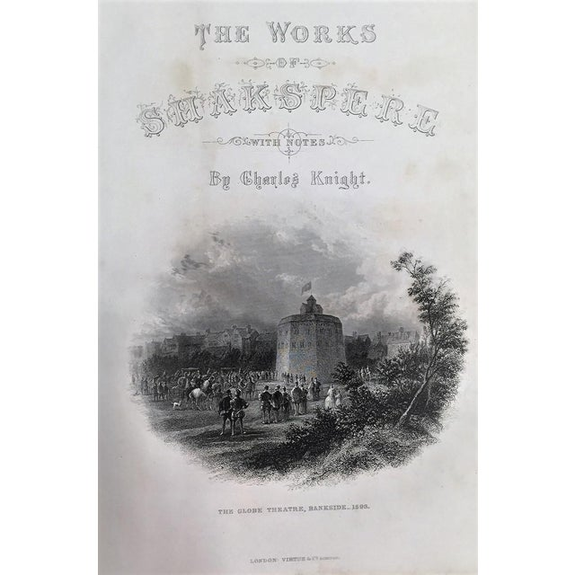 19c Works of Shakespere Imperial Edition by Charles Knight Vol II With Illustrations on Steel For Sale - Image 4 of 13