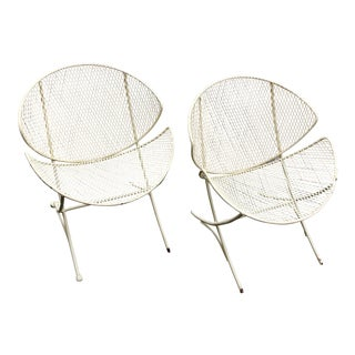 1950s Vintage Tempestini for Salterini Clamshell Chairs-a Pair For Sale